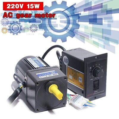 Ac Gear Motor Electric Motor Variable Speed Controller 110 125rpm 220v 15w