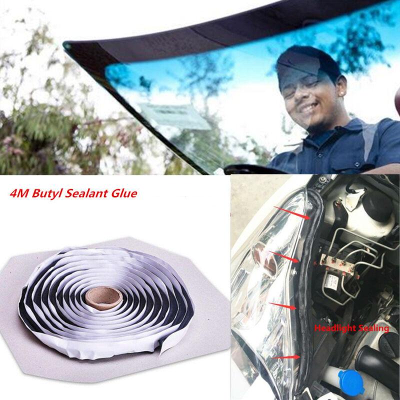 Car Door Windshield Headlight Reseal Rubber Butyl 4M Glue Strip Retrofit Sealant