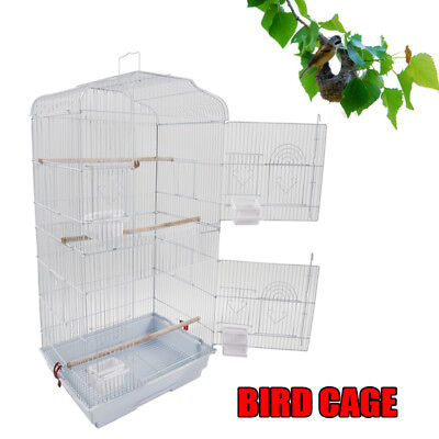 """37"""" Pet Bird Cage Hanging Parrot Aviary Canary Budgie Finch Portable Perches"""