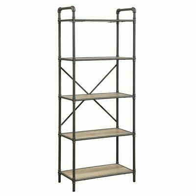ACME Itzel 5 Shelf Bookcase in Sandy Gray and Oak