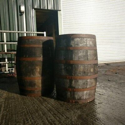 EX WHISKEY OAK BARREL 40 GALLON Wooden Keg Water Barrels Cider Pub Table.