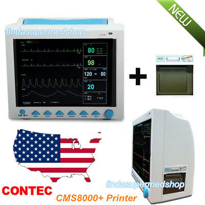 Multi Language7parameter Patient Monitor Icu Vital Signs 12.1 Lcd Fdaprinter