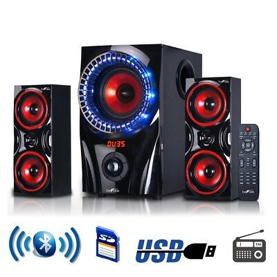 Home Theater Speaker System Audio Stereo Surround Sound Speakers Wireless USB A+