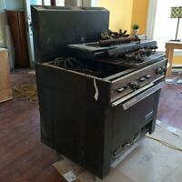 Disassembled Garland Commercial Gas Range