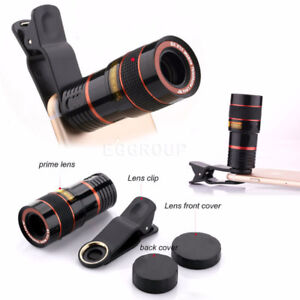 8X  Zoom  Optical Clip-on HD Telescope Phone Camera Lens