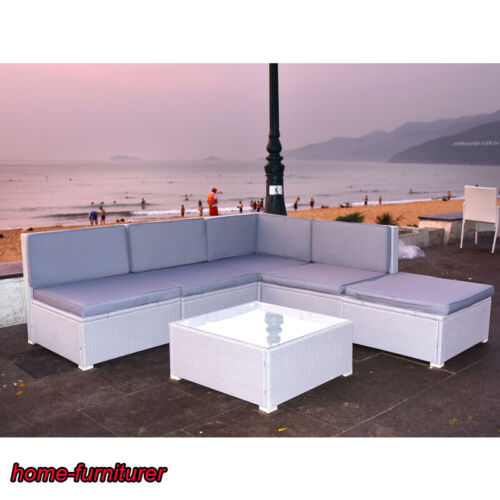 Garden Furniture - Outdoor Garden Rattan Corner Sofa With Cushion Coffee Table Sofa Furniture Set