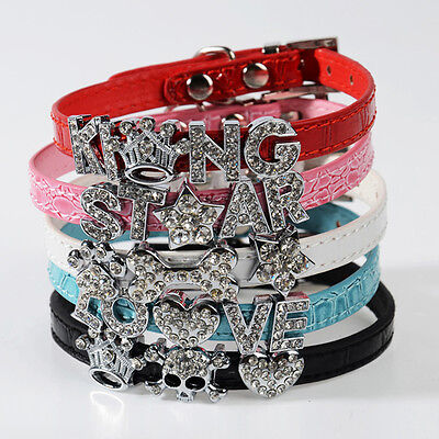 Bling Letters (DIY Name Bling Rhinestone Letters Leather Dog Cat Adjustable Pet Puppy Collars )