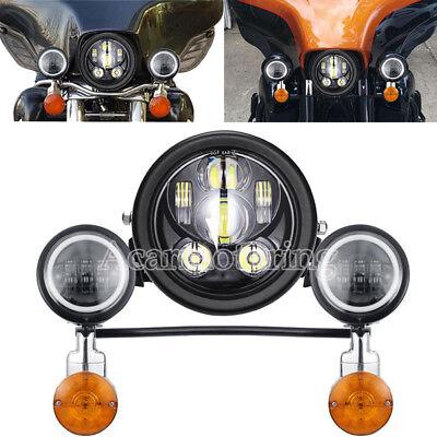 5.75'' LED Headlight Turn Signal Passing Lights Bar Kit For Honda Shadow VT 750