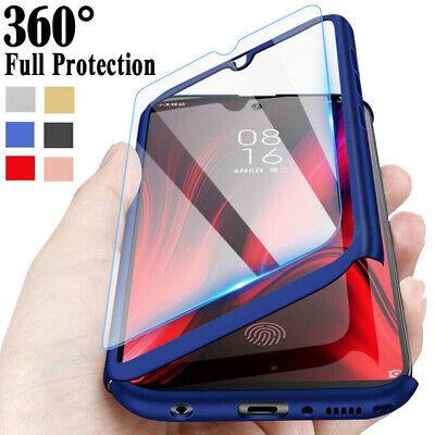 Full Cover Case + Tempered Glass For Xiaomi Mi 9T 8 9 Lite A1 A2 A3 Pocophone F1