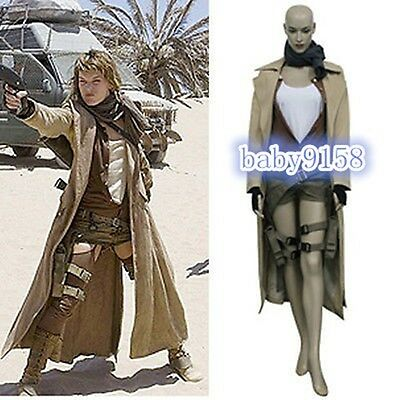 Resident Evil Extinction Alice Cosplay Costume Halloween Jacket Shirt Pants #
