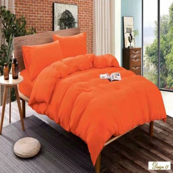 Deep ORANGE Fitted BedSheet Bed Sheet NEW Single Queen King