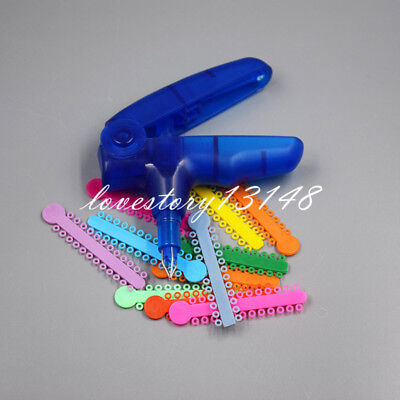 Dental Orthodontic Ligature Gun Dispenser Shooter 1008pcs Ligature Ties Rubber