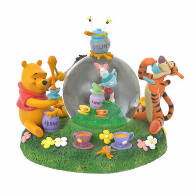 Disney Store Japan Winnie the Pooh Snow Globe Rain Pooh's Day Eeyore Tiger Pigle