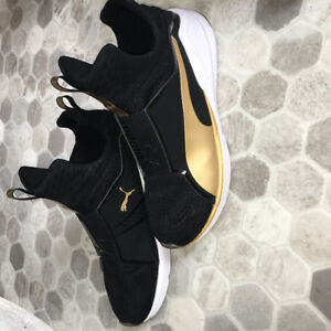 Black and gold Puma Fierce- Woman's 8.5