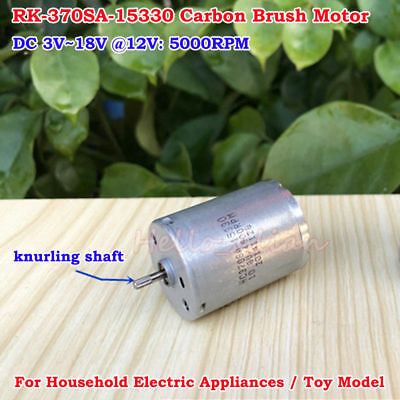 Dc 3v 5v 6v 9v 12v 5000rpm Rk-370sa-15330 Mini Carbon Brush Motor Diy Toy Parts