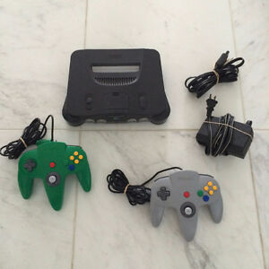 N64 Console, All Hook Ups,Original Controller and JUMPER PACK