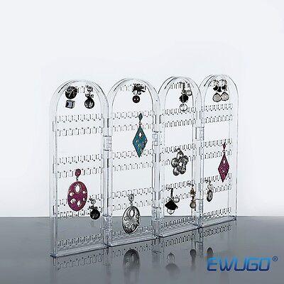Ohrringhalter Ohrringständer Paravent Acryl Ohrring Schmuck Display Ständer neu