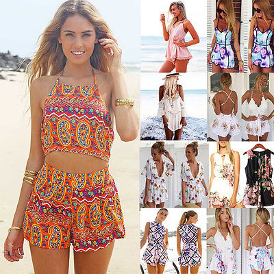 New Women Summer Beach Jumpsuit Clubwear Bodycon Playsuit Romper Hot Short Pants