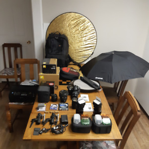 D90 Nikon Camera, Lenses, Flashes, and more