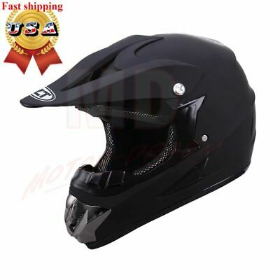 DOT Adult Motocross Helmet Matte Black ATV Dirt Bike Motorcycle MX Off-Road Bike