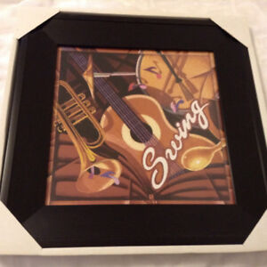 Music Lovers: Framed SWING Wall Art - Brand New in Box