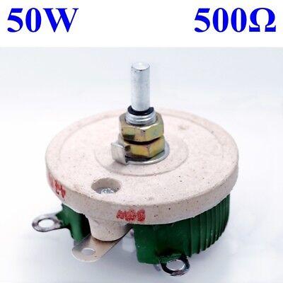 50w 500 Ohm Power Wirewound Potentiometer Rheostat Variable Resistor