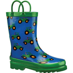 kids tractor rain boots size 2 new