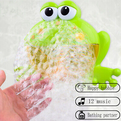 Bubble Machine Big-Frog Automatic Bubble Maker Blower Music Bath Toys For Baby