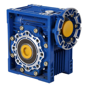 Size 40 Right Angle Worm Gearbox 100:1 Ratio 14 RPM Motor Ready Type NMRV