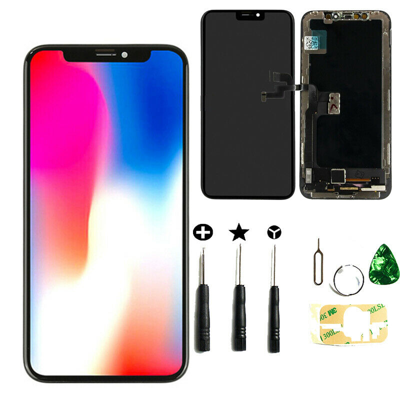 the latest 352a3 559d8 Details about OLED for iPhone X 5.8'' LCD Touch Screen Digitizer Assembly  Replacement Black US