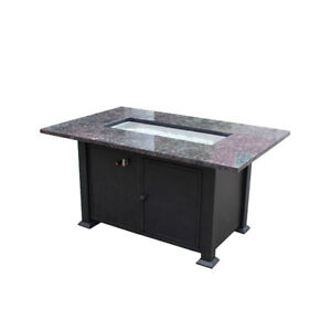 """Large 50"""" x 30"""" Granite Firepit Table by Enclover"""