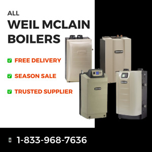 WEIL-MCLAIN BOILERS (NEW) - best prices, free delivery, contact