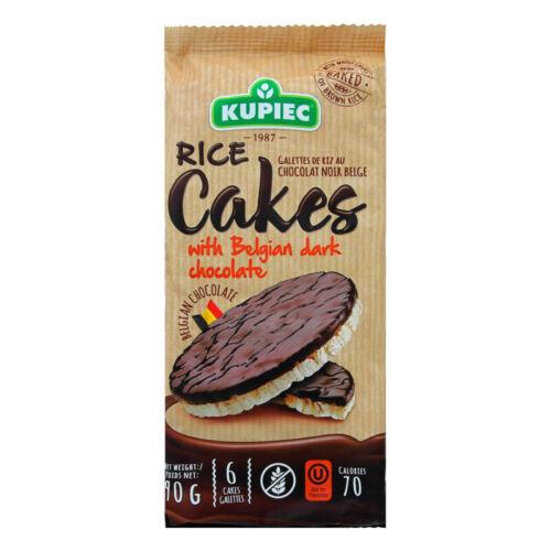 Kupiec Rice Cakes with Belgian Dark Chocolate 90g (Package of 6 Rice Cakes)