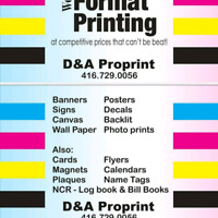 ALL YOUR PRINTING AND SIGNS NEEDS!