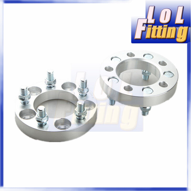 UK+2PCS+25mm+Thick+5+Lug+Wheel+Spacers+5x114.3+To+5x114.3mm+%7C+14x1.5+%7C+82.5+CB