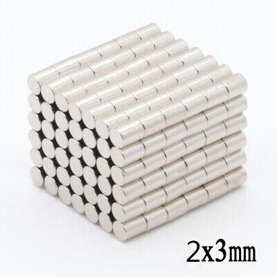 100-500pcs 2x3mm Neodymium Disc Super Strong Rare Earth N50 Small Fridge Magnets