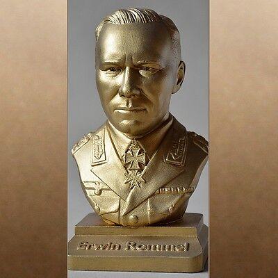 Erwin Rommel  metal-colour gold 20cm büste bust busto popiersie бюст