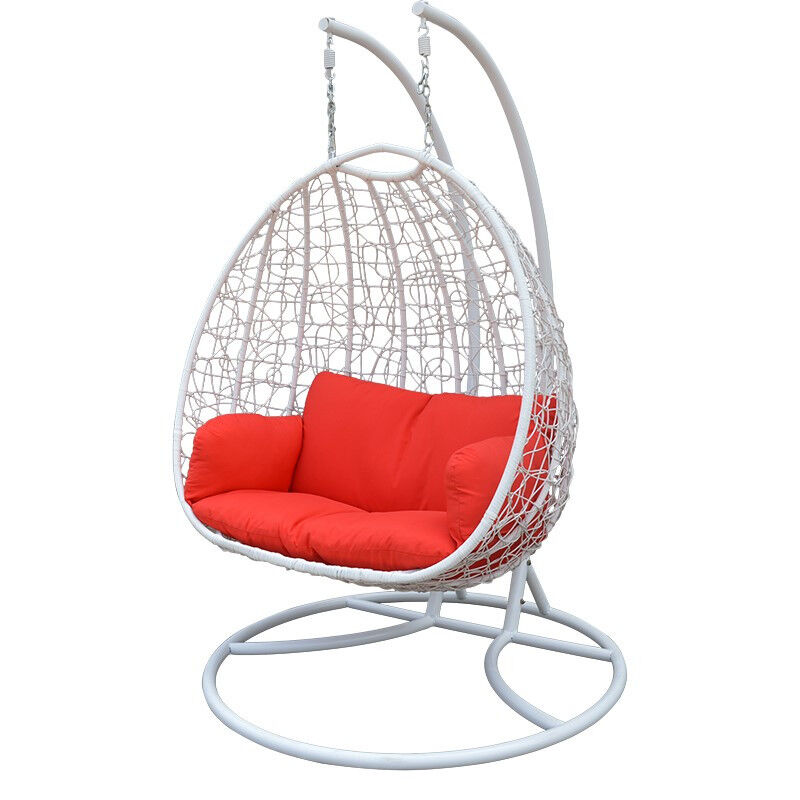 Double Seating Hanging Chair Patio Furniture Indoor Outdoor Chairs