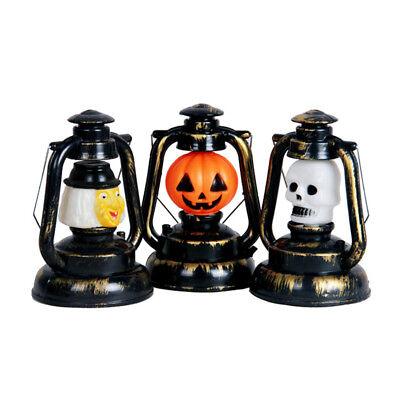 Halloween Laterne mit Sound Lampe Dekoration Partygag Kürbis, Hexe, Totenkopf !!
