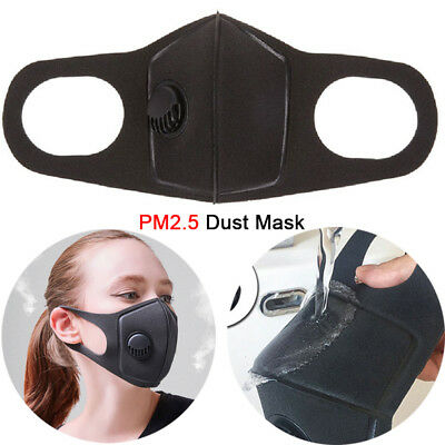 Pm2.5 Dust Mask Respirator Anti Pollution Air Face Masks Washable Reusable New