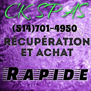 Récupération et achat de Spas / collection and purchase of spas