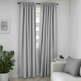 IKEA Vilborg Thermal Curtains Fully Lined | Grey
