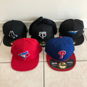 Assortment of Baseball Fitted Hats - Size 7 1/8