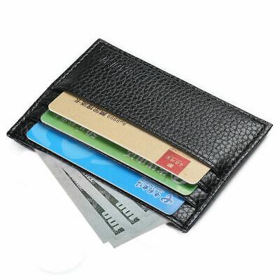 Front Pocket Card Holder (Mens Slim Leather Wallet Card Holder Front Pocket Wallets Credit ID Pocket)