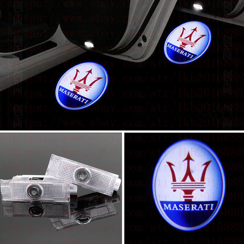 LED Welcome Light Projector Door Shadow Light Puddle light Car Ghost Shadow Light For Maserati LEVANTE 2Pcs Car Door Light Fit for Maserati