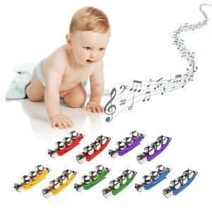 2pcs 5 Jingles bells Wrist Ankle Bell Bracelet Handbell Percussion Musical Toys