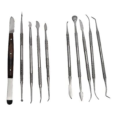 Top Newly Dental Lab Stainless Steel Kit Wax Carving Tool Set Instrument