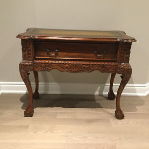 Vintage Hand Carved Console Hall Table