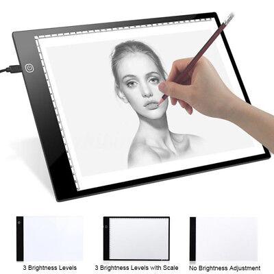LED Tracing Light Box Board Art Tattoo A3 Drawing Pad Table Stencil Display