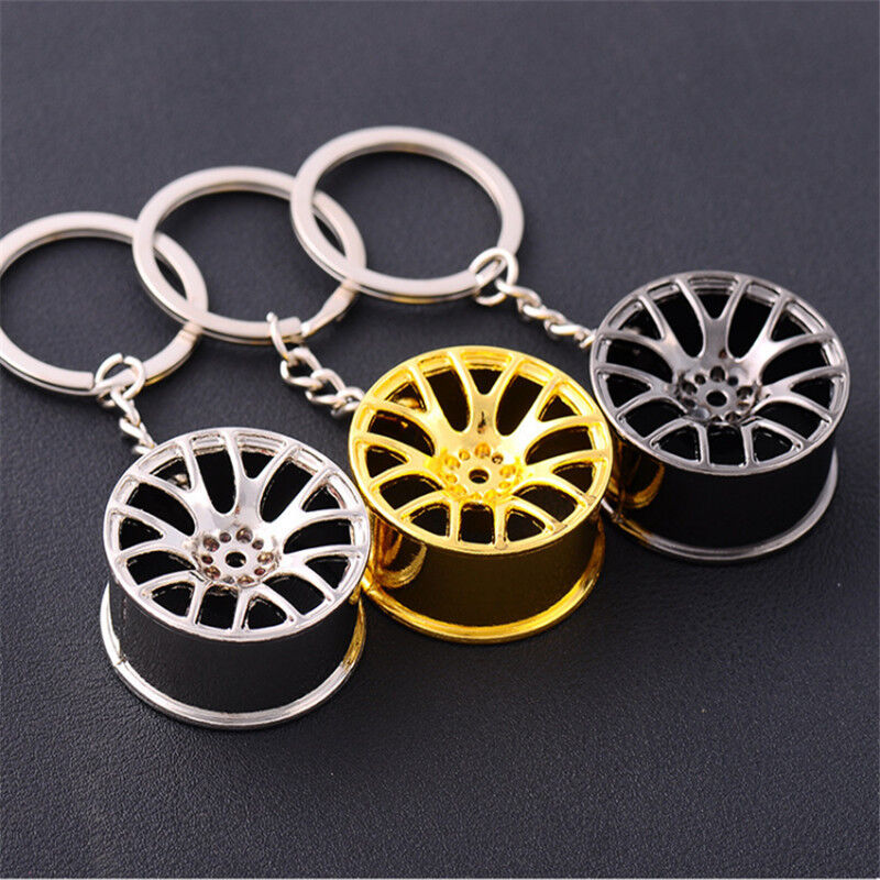 Fashion Creative Wheel Hub Rim Model Man's Keychain Car Key Chain Cool Gift New